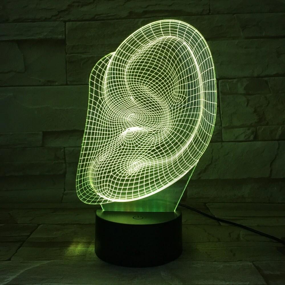 Ear Shape - 3D Night Light Table Lamp