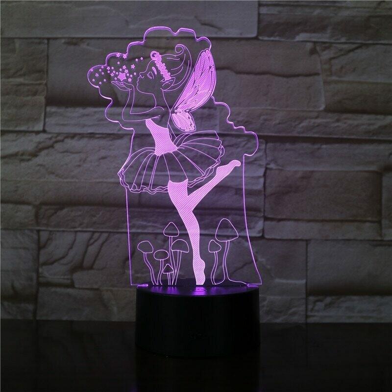 Fairy Angle Girls - 3D Night Light Table Lamp