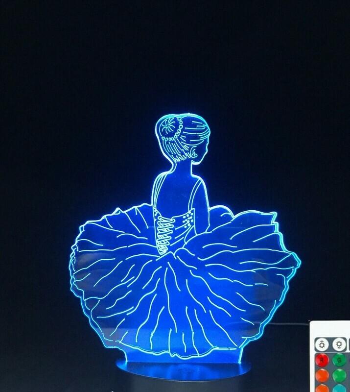 Cute Ballet - 3D Night Light Table Lamp