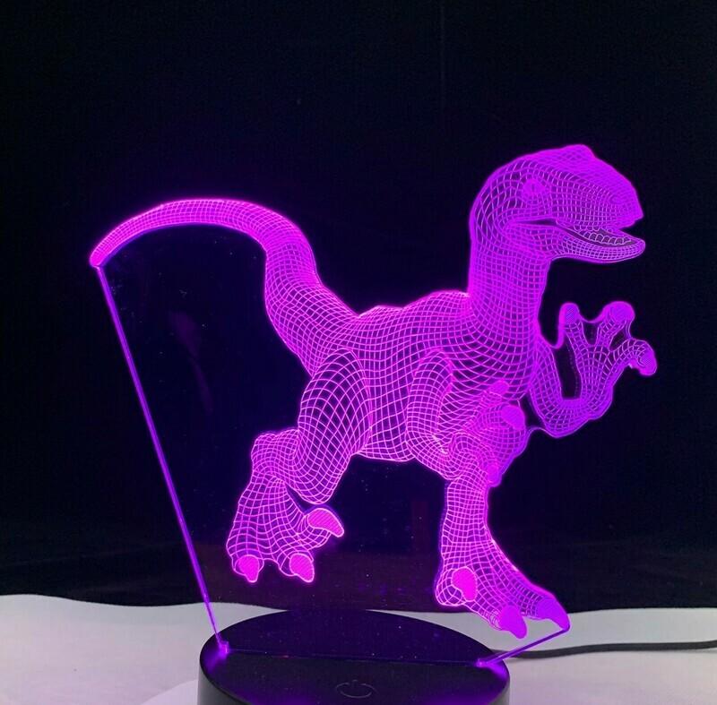 Dinosaur 1 - 3D Night Light Table Lamp
