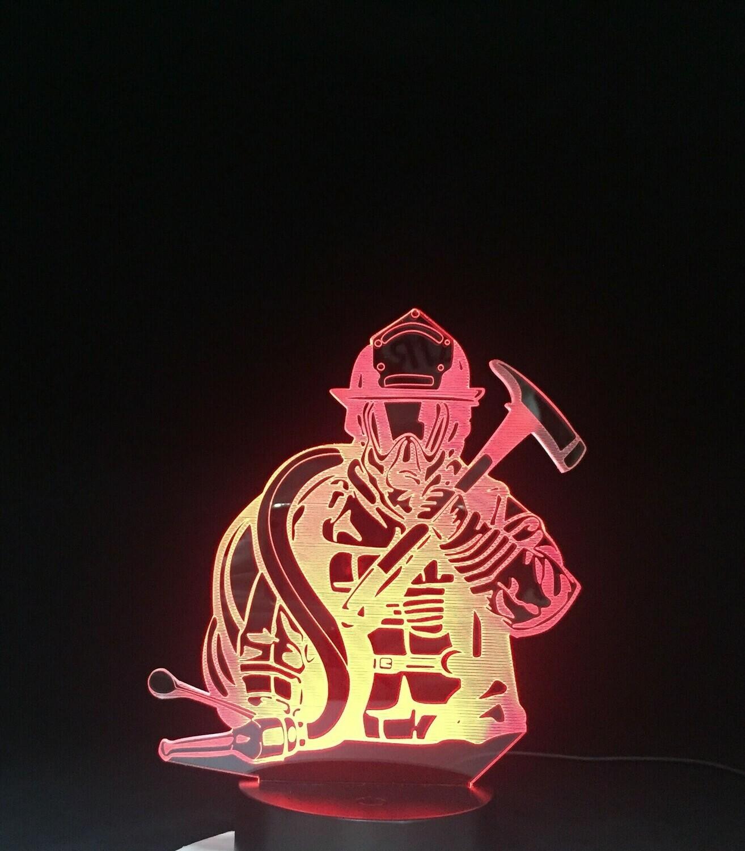 Fireman - 3D Night Light Table Lamp