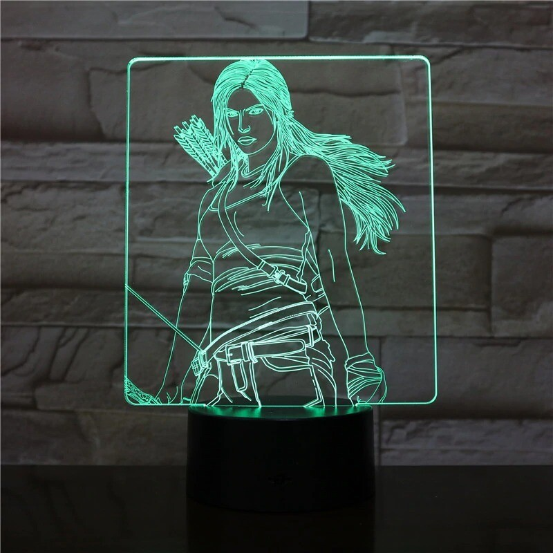 Girl with Arrows - 3D Night Light Table Lamp