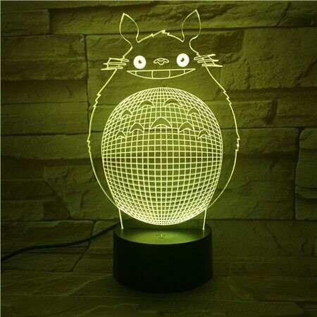 Kawaii Cartoon Totoro - 3D Night Light Table Lamp