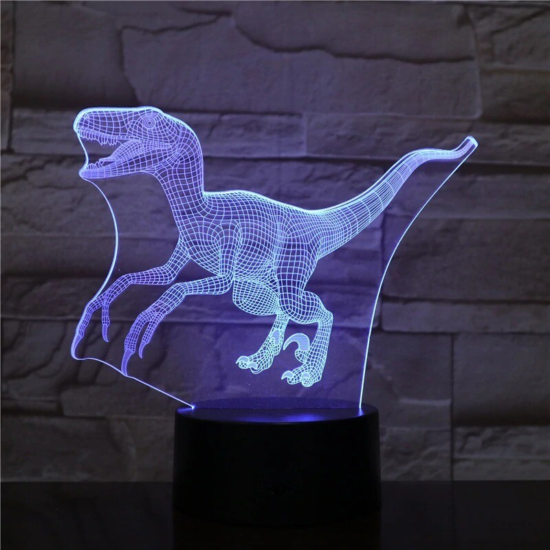 Dinosaur 2 - 3D Night Light Table Lamp