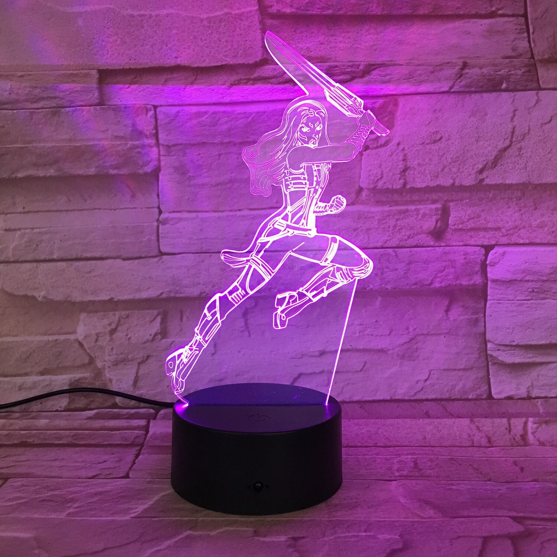 Hero Woman - 3D Night Light Table Lamp