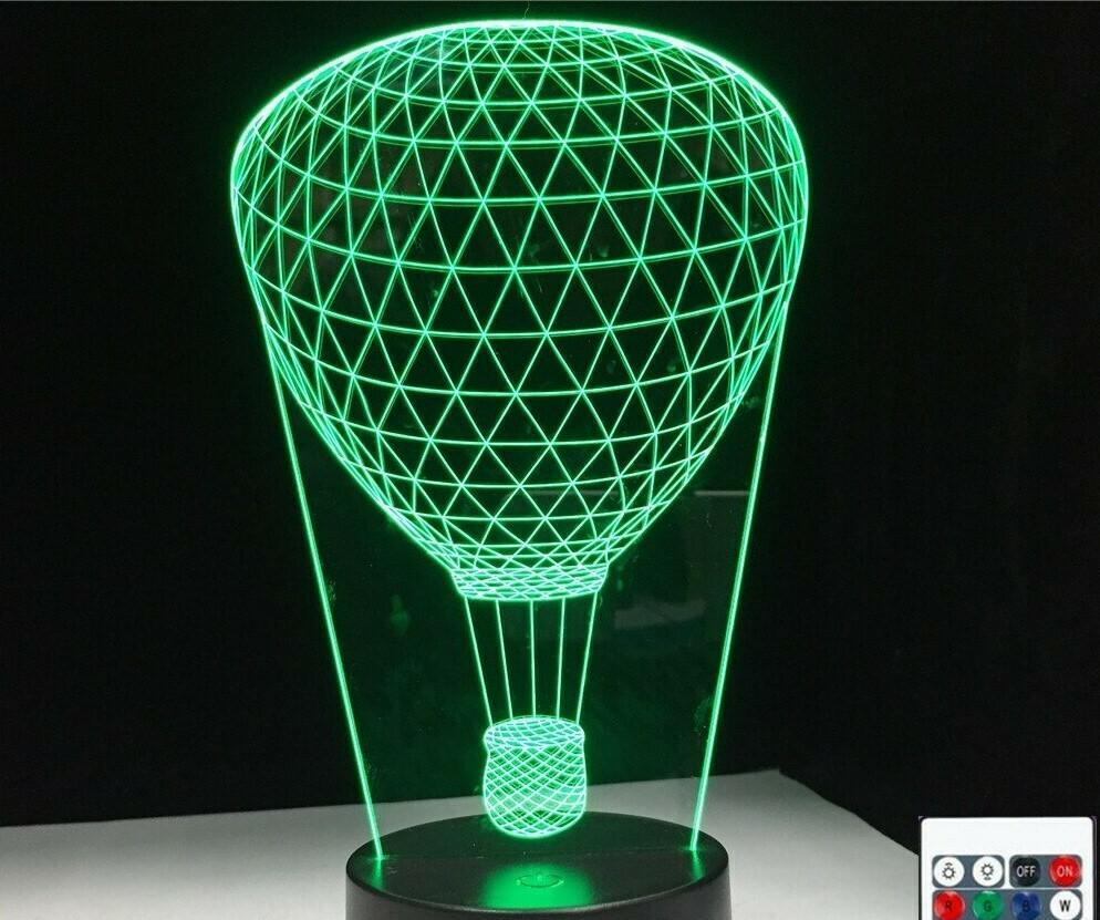 Hot Air Balloon - 3D Night Light Table Lamp
