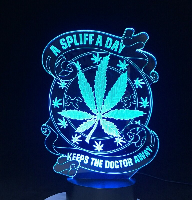 Keeps The Doctor Away Health - 3D Night Light Table Lamp