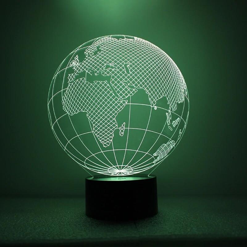 Earth Shape - 3D Night Light Table Lamp