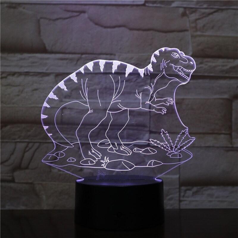 Dinosaur 3 - 3D Night Light Table Lamp