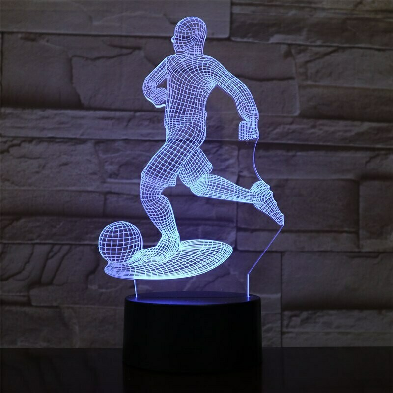 Football Player - 3D Night Light Table Lamp