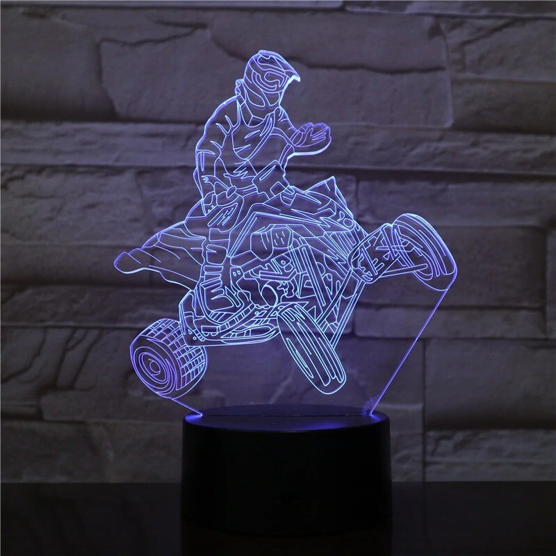 Four-wheel Racing Car - 3D Night Light Table Lamp
