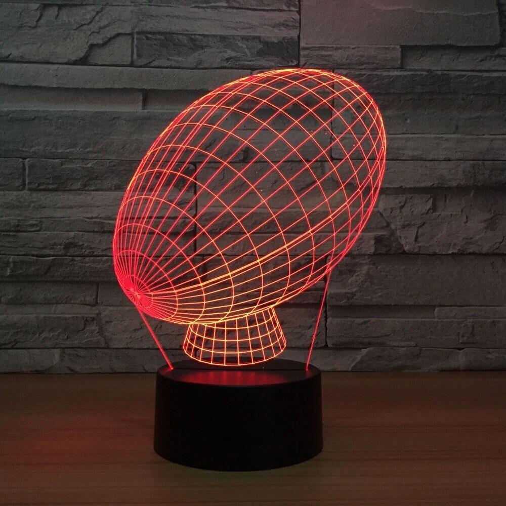 American Football Modeling - 3D Night Light Table Lamp