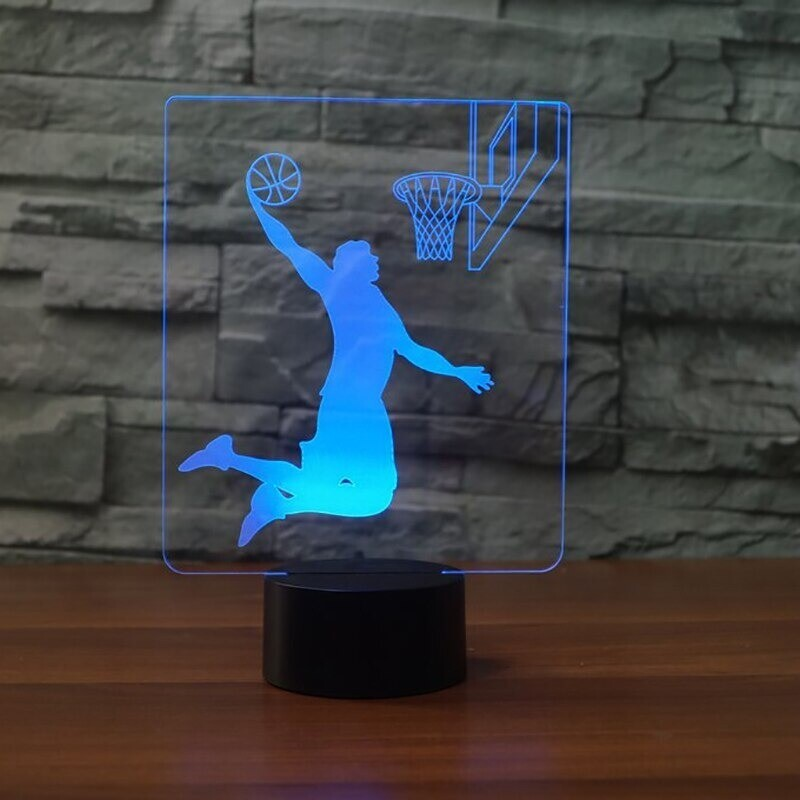 Basketball Rebound Dunk - 3D Night Light Table Lamp