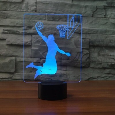 Basketball Rebound Dunk - 3D Night Light Table Lamp