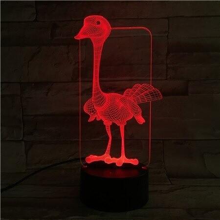 Ostrich  - 3D Night Light Table Lamp