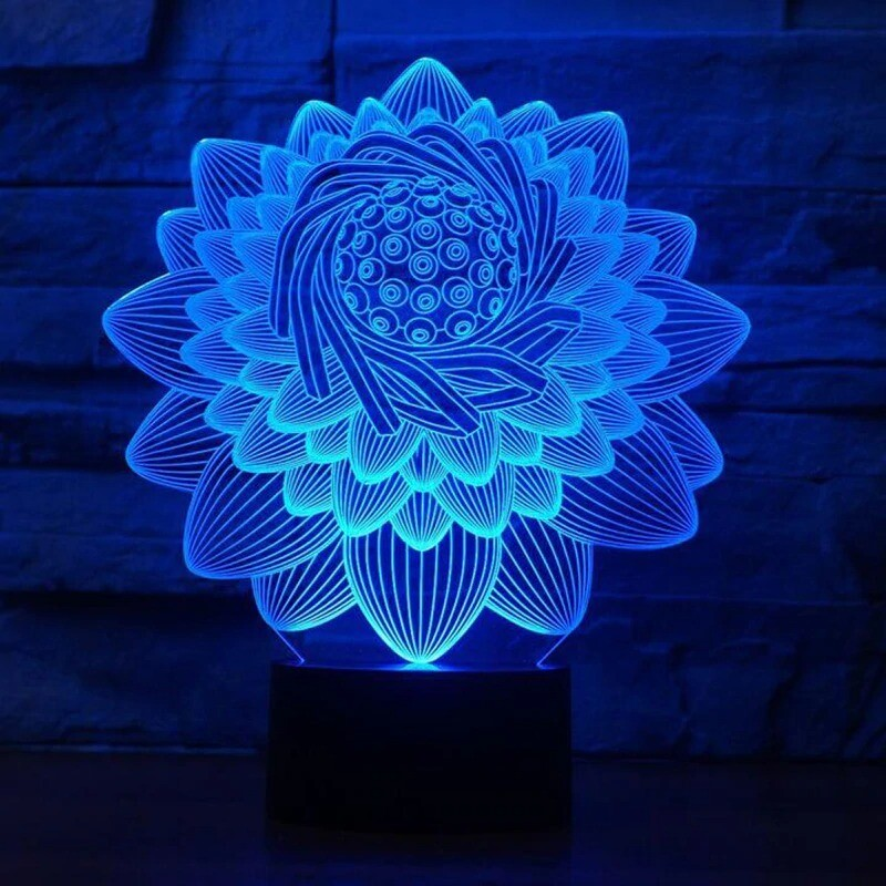 Lotus Flower - 3D Night Light Table Lamp