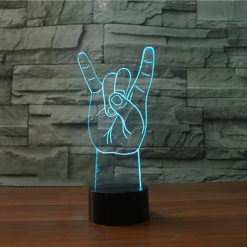 Metal Rock And Roll - 3D Night Light Table Lamp