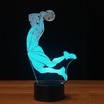 Basketball Dunk  - 3D Night Light Table Lamp