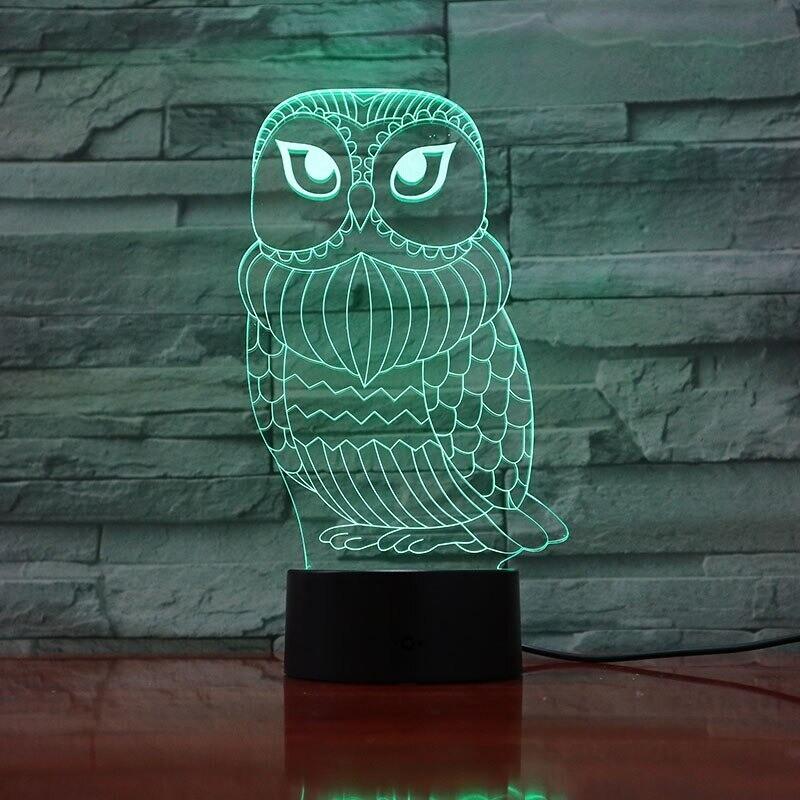 Owl Baby Football - 3D Night Light Table Lamp