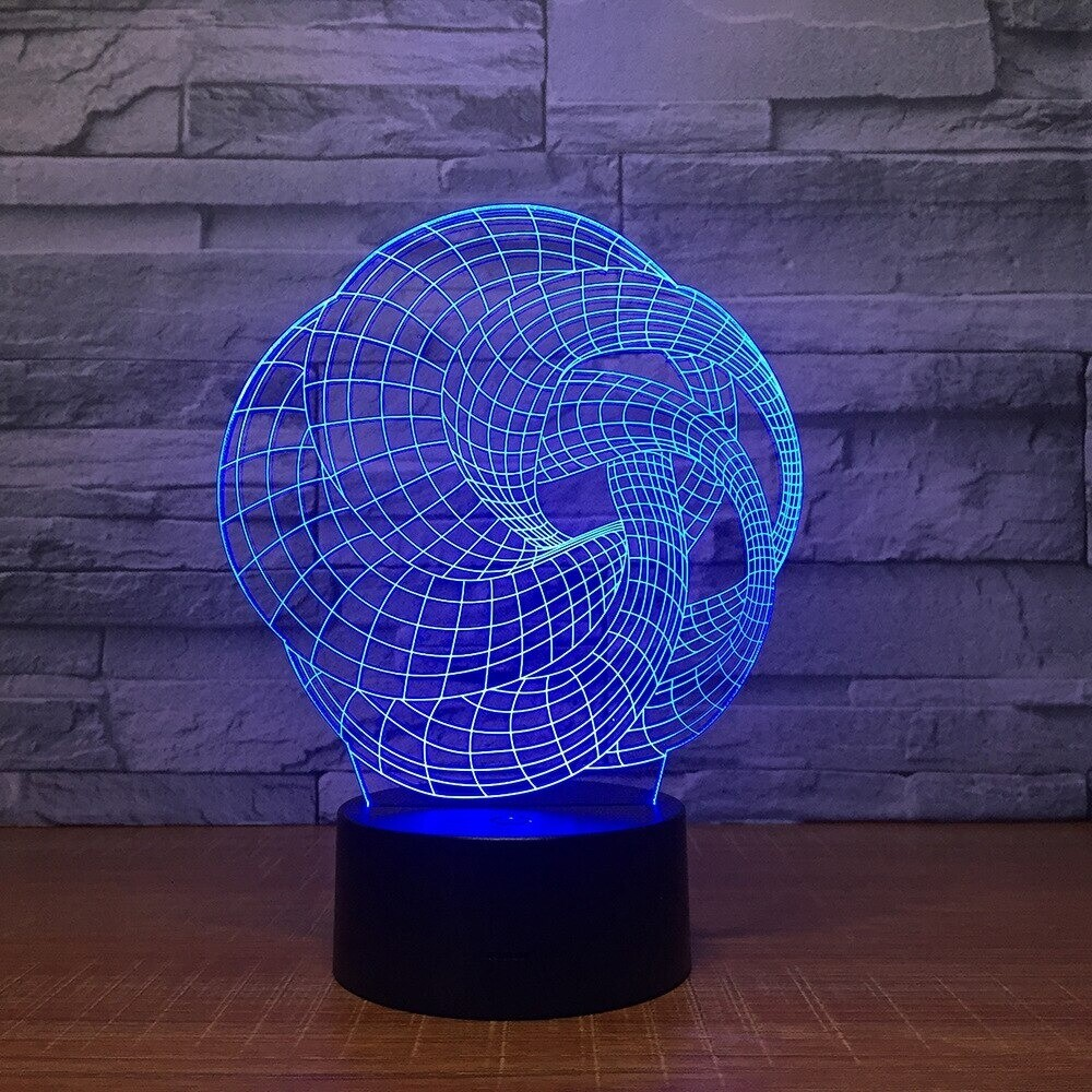 New Art Abstraction - 3D Night Light Table Lamp