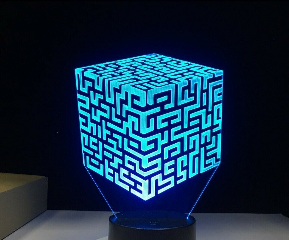 New Maze - 3D Night Light Table Lamp