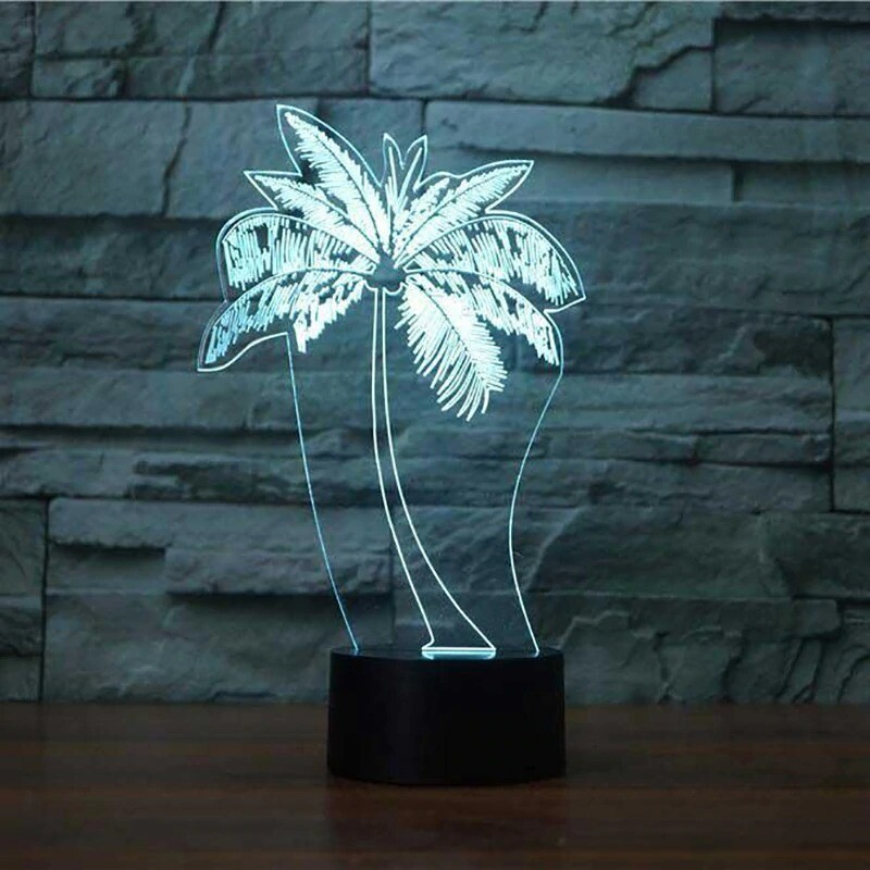 Palm Tree - 3D Night Light Table Lamp