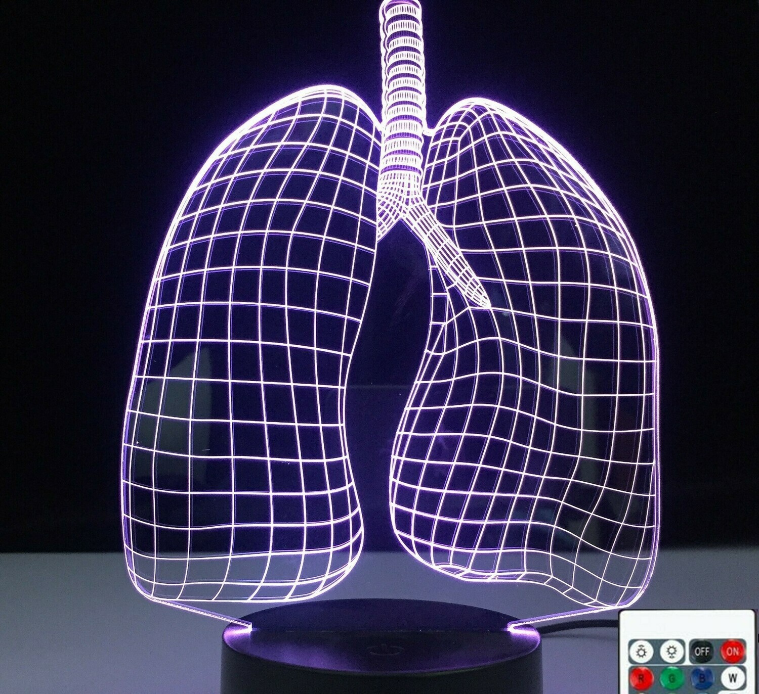 Lungs - 3D Night Light Table Lamp