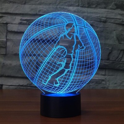Basketball Modelling 1  - 3D Night Light Table Lamp