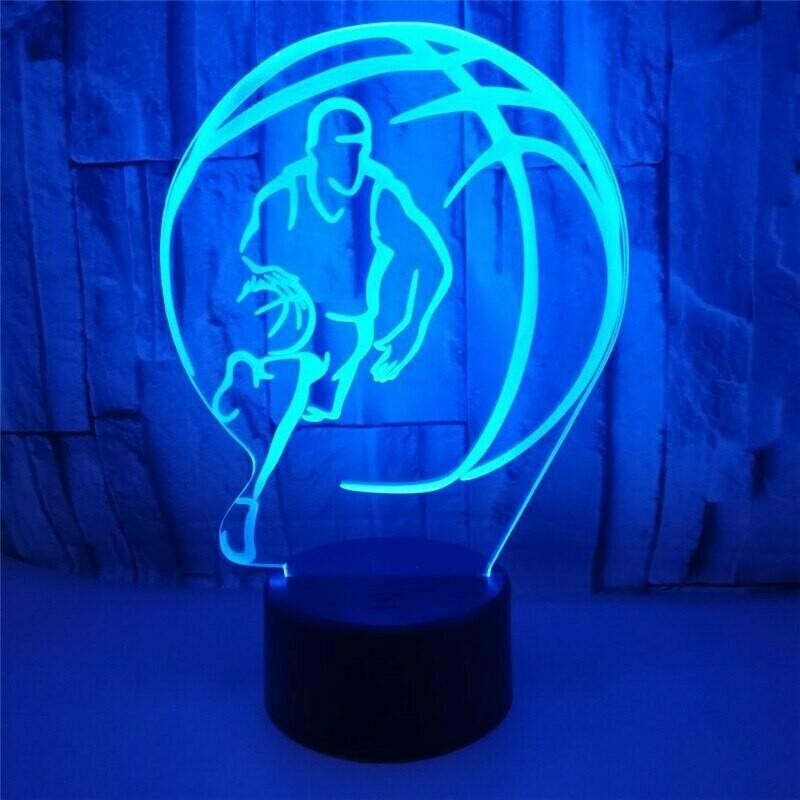 Basketball Raptors - 3D Night Light Table Lamp