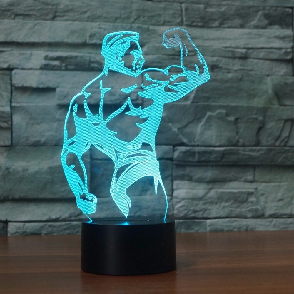 Bodybuilding Muscle Modelling - 3D Night Light Table Lamp