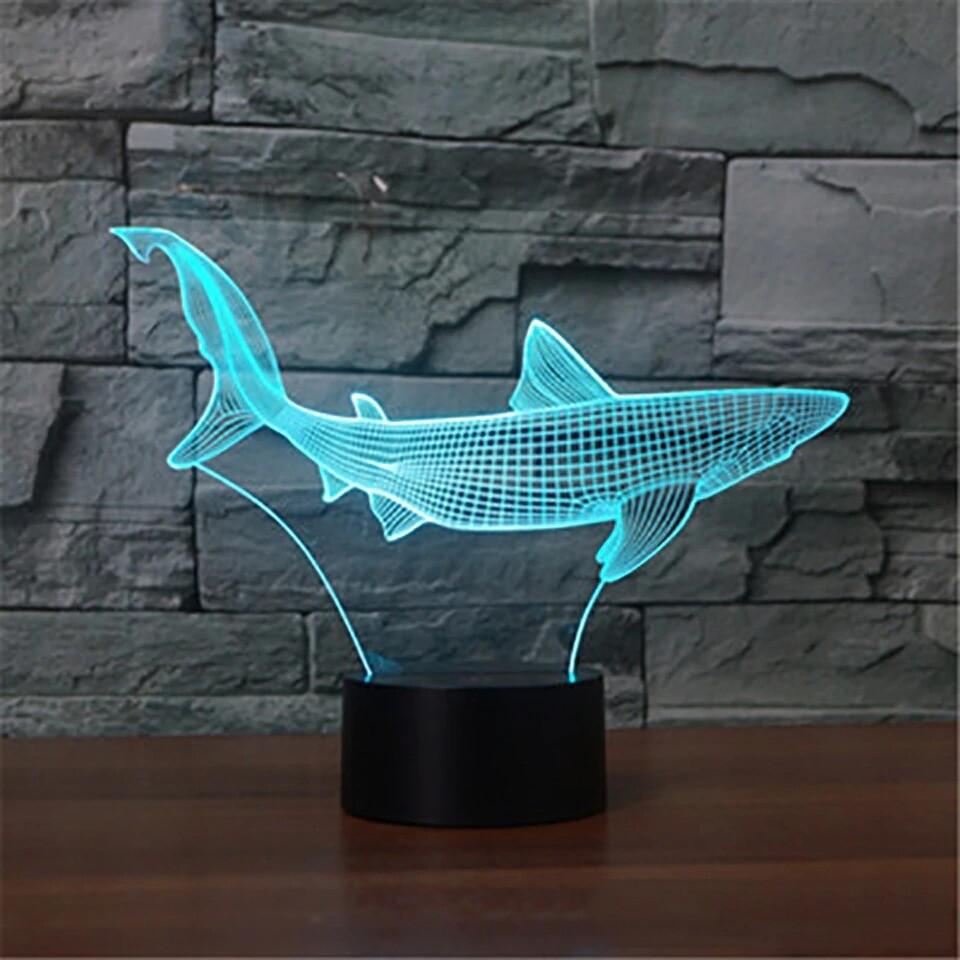 Cool Shark - 3D Night Light Table Lamp