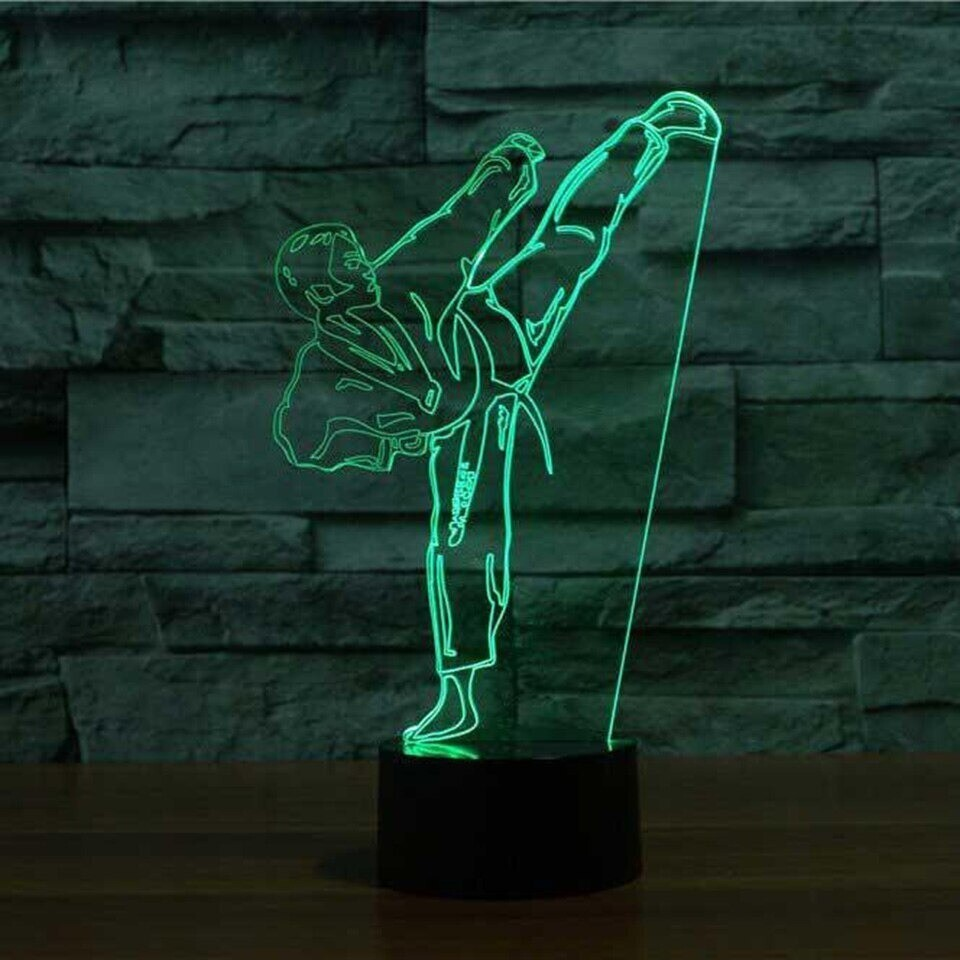 Creative Karate Shap Taekwondo - 3D Night Light Table Lamp