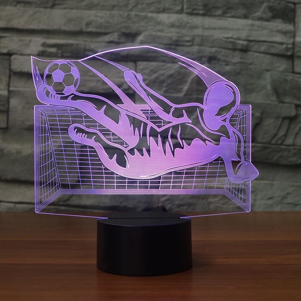 Flying Kick Soccer - 3D Night Light Table Lamp