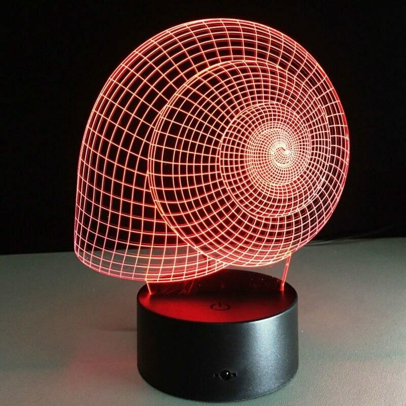 Snail Shell - 3D Night Light Table Lamp
