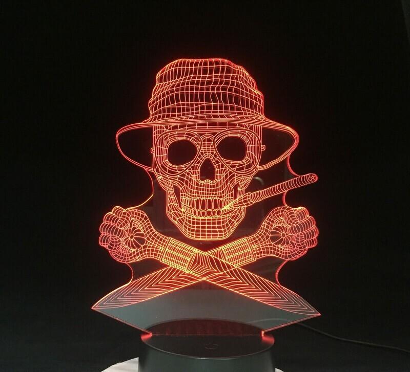 The Skeleton Pirate - 3D Night Light Table Lamp