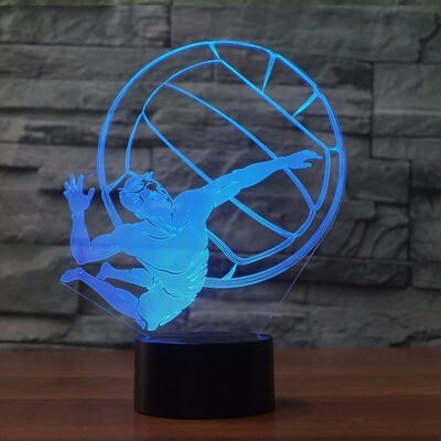Play Volleyball Modelling - 3D Night Light Table Lamp