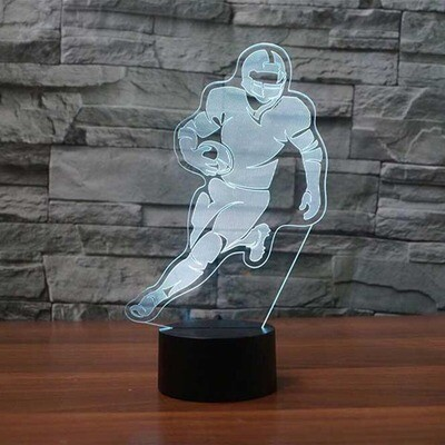 Football Player - 3D Night Light Table Lamp