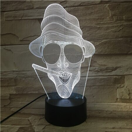 Smoking Man Thug Life - 3D Night Light Table Lamp