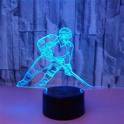 Ice Hockey Player - 3D Night Light Table Lamp