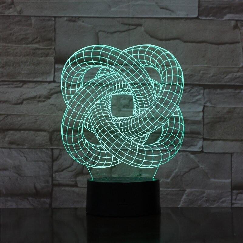 Spiral Circles - 3D Night Light Table Lamp