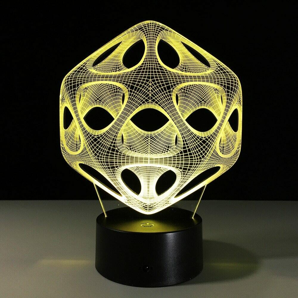 Spiral Holes - 3D Night Light Table Lamp