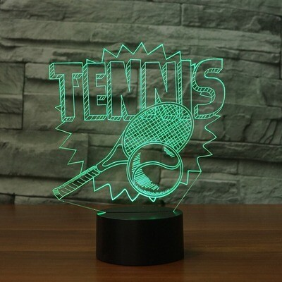 Novelty Tennis - 3D Night Light Table Lamp