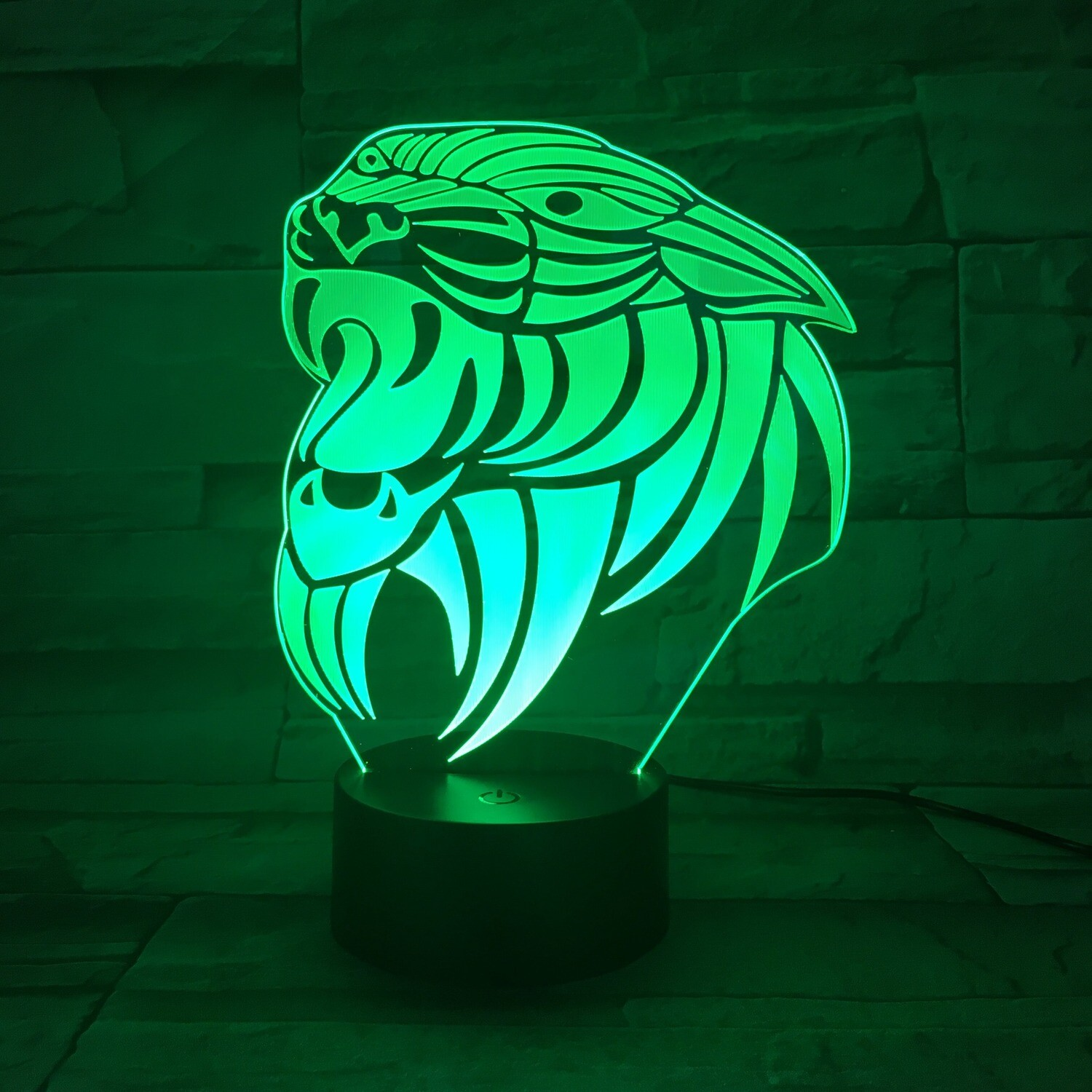Tiger Abstract - 3D Night Light Table Lamp