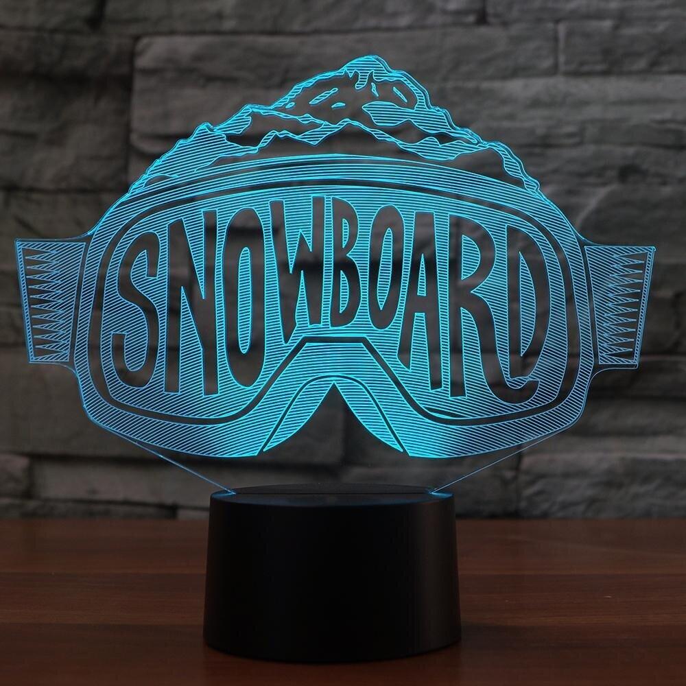 Ski Goggles Modelling - 3D Night Light Table Lamp