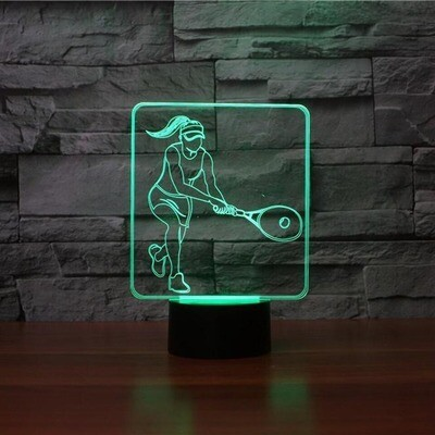 Tennis Female Player Modelling - 3D Night Light Table Lamp