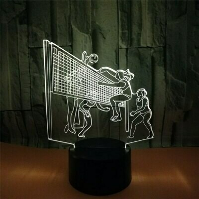 Volleyball - 3D Night Light Table Lamp