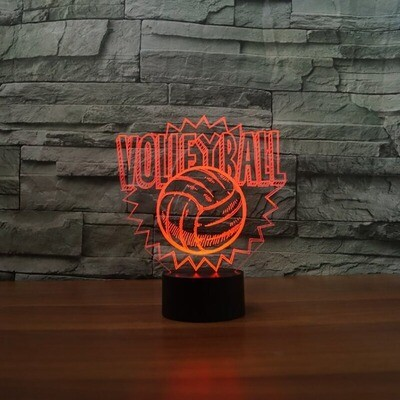 Volleyball Table - 3D Night Light Table Lamp