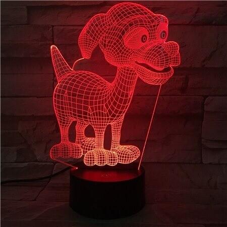 Puppy Dog - 3D Night Light Table Lamp
