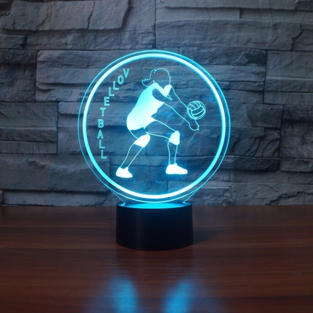 Creative Led Playing Volleyball Modelling - 3D Night Light Table Lamp