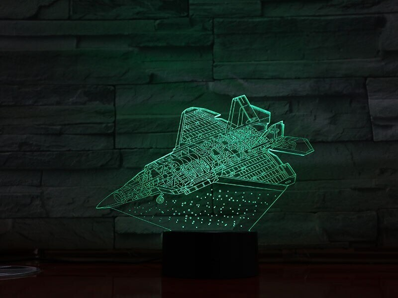 Space Ship - 3D Night Light Table Lamp